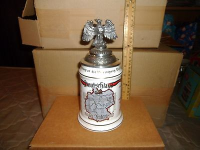 Beer Stein West German Deutschland einig Vaterland #522 of 4000 Lot#1