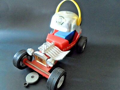 vintage THE RED MENACE  toy car BATTERY OPERATED by Durham Industries , Japan