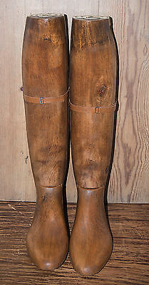 Antique Wooden Riding Boot Stretcher By Faulkner And Sons , London