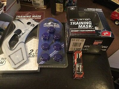 Complete Elevation Training Mask, Med. Sleeve, Valves And Cleaner New