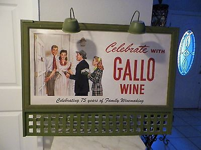 "Large 2008 Advertising Ernest & Julio Gallo Winery Sign 42"" Long Double Sided"