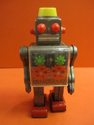 All Original Horikawa Engine Robot Battery Operated Space Toy 1964 Japan