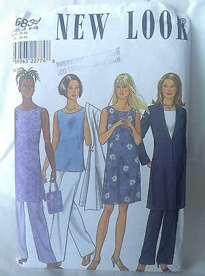 Pattern Simplicity New Look 6839, misses' jacket, top and dress, 8-18