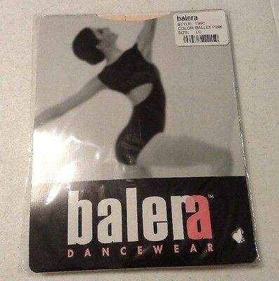 Balera Dancewear Girl's Footed Tights Size LC Large Child Ballet Pink Style T99C