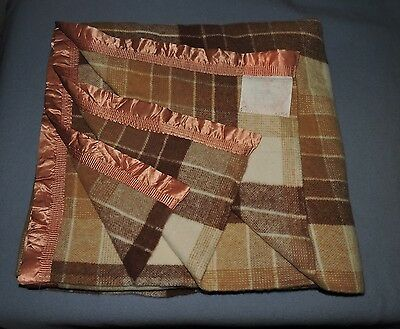 ONKAPARINGA Australian Made PURE NEW WOOL Queen Size Blanket VERY GOOD CONDITION