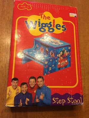 The WIGGLES Wooden Step Stool Storage Bin New in the original box