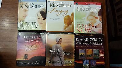 Lot of 6 Christian fiction audiobooks - Kingsbury, Lewis, Wiseman