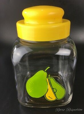 RETRO Kitchen Canister Jar - Pear Motif - Made in Japan