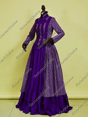 Victorian Edwardian Faerie Witch Dress Gown Halloween Steampunk Costume 175