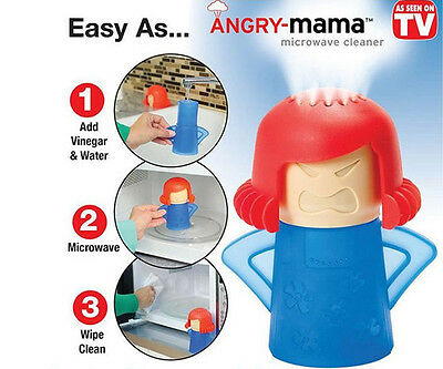 HOT Metro Angry Mama Microwave Cleaner Kitchen Gadget Tool Home Kitchen Creative