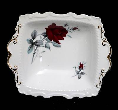 Vintage Royal Albert Sweet Romance red rose pretty bowl