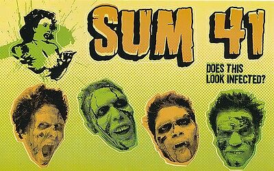 Sum 41 Does This Look Infected? RARE promo sticker sheet '02