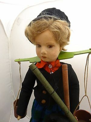 "Rare 16"" Lenci Dutch Marionette in Great Cond. Strings Intact"