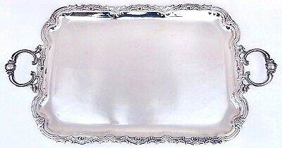 "925 Sterling Silver Industria Peruana Large 30"" Meat Serving Tray Platter 3452gr"