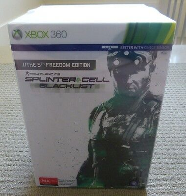 Splinter Cell Blacklist The 5th Freedom Collector's Edition 360 PAL AUS *NEW*