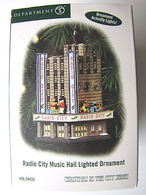 Dept 56 Christmas Ornament - Radio City Music Hall Lighted Ornament