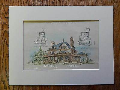 House, Charles Cutler, Kahdena Park, Morristown, NJ, 1890, Original Plan