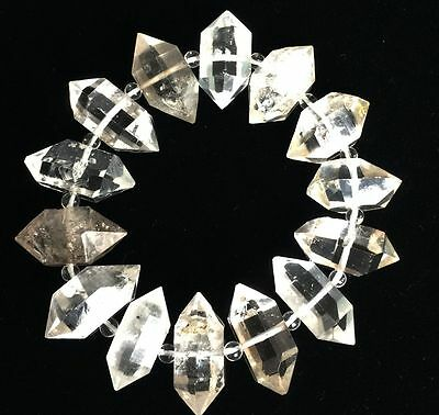 A  of Top Quality Herkimer Diamond Crystal point Mineral Specimens/Hand catenary