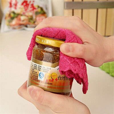 ANTI-GREASY Dish Cloth Washing Clean Towel Kitchen Wiping Rags Bamboo Fiber HOT