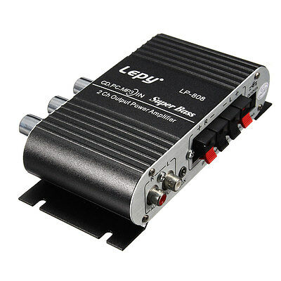 Lepy Mini Car Home Stereo Hi Fi Amplifier 2 Channel For Ipod Mp3 Pc Dvd Cd A9K5