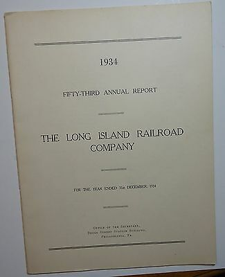 Long Island Railroad 1934 Annual Report