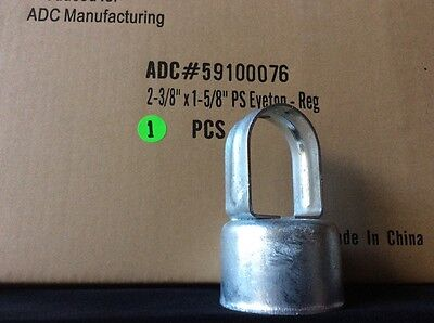 """(1) Chain Link Fence EYE TOP for 2-3/8"""" Line Post & 1-5/8"""" Top Rail - Commercial"""