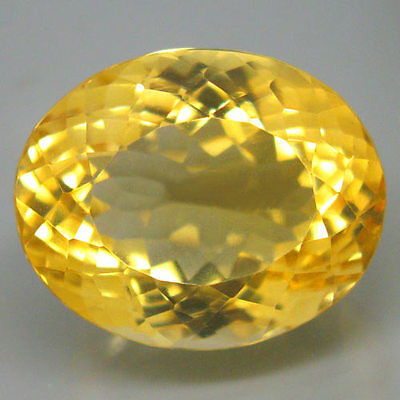 15.82ct.CHARMING GEM! 100%NATURAL TOP GOLDEN YELLOW CITRINE UNHEATED AAA