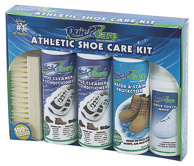 Quick Care Athletic Shoe Care Kit Sneaker Cleaner Conditioner Leather Suede