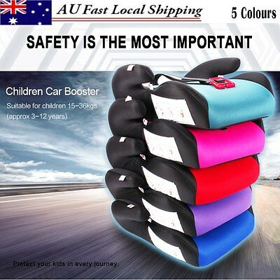 Car Booster Seat Safe Sturdy Baby Children Child Fit 3-12 Years 15-36kg 5 Colors