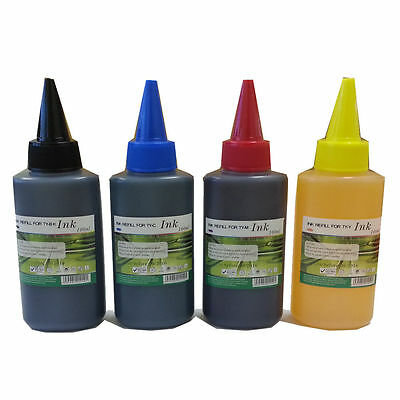 4 X 100ml Refill Ink Bottles for Epson Lexmark Canon HP Philip Brother Dell