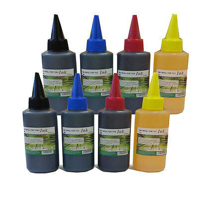 800ml Premium Ink refill bottles kit for empty Canon Epson HP cartridge