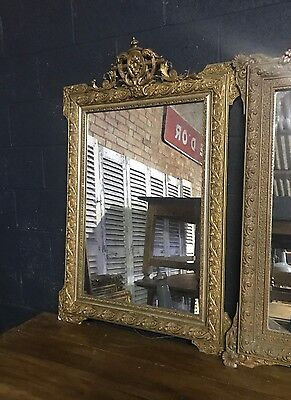 Superb Antique 19th Century French Gold Ornate Framed Foxed Mirror