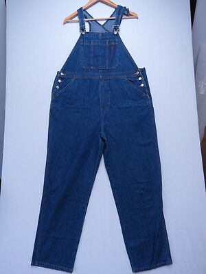 *a-154 Ladies Additions Maternity Blue Denim Overalls Size 10 As New
