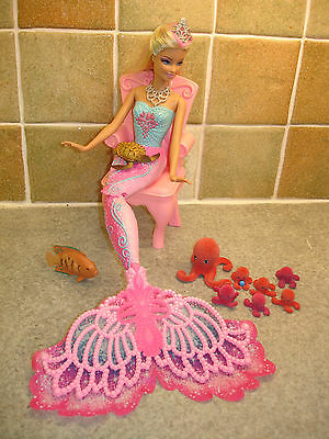 A Stunning Barbie the Mermaid 30cm Doll with Accessories