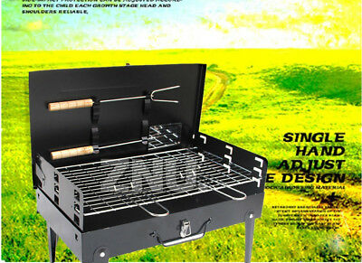 MINI Size Portable BBQ Barbecue Grill Sets Charcoal picnic Camping FOR 4Peoples