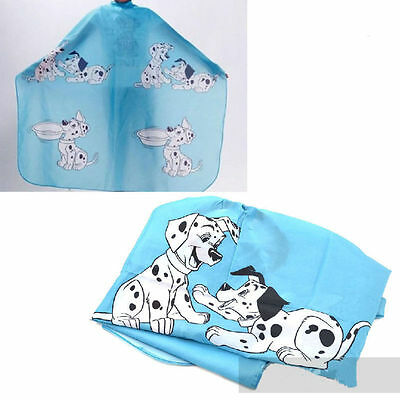 Cartoon Kids Child Hair Cutting Cape Apron Gown Hairdressing Barber Cute Blue
