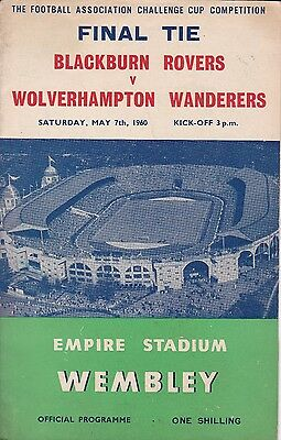 BLACKBURN ROVERS v WOLVERHAMPTON WANDERERS ~  FA CUP FINAL ~ 7 MAY  1960 (4)