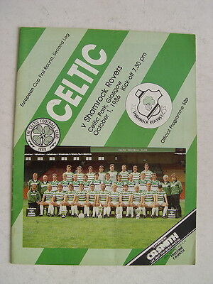 Celtic v Shamrock Rovers 1986/87 European Cup
