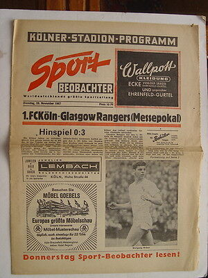 Cologne v Rangers 1967/68 Fairs Cup