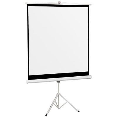 """70"""" Portable Matte White Projector Projection Screen with Tripod Home Theater"""