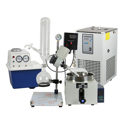 2L Rotary Evaporator Complete Turnkey Package w/ Water Vacuum Pump & Chiller