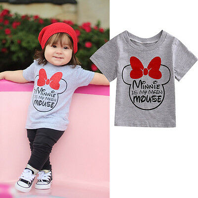 Kids Baby Boys Girls Minnie Mouse Tee T-shirt Summer Tops Cotton Summer Clothes