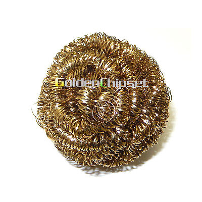 1pcs Brand New Soldering Solder Iron Tip Cleaner Brass Cleaning Wire Sponge Ball