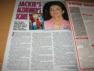 JACKIE KENNEDY ONASSIS - 1 page magazine clipping