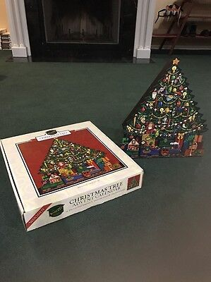 Christmas Tree Advent Calendar Traditions Byers' Choice Wooden Train Presents