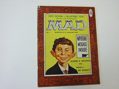 Mad Magazine UK Issue Number 1 1959 First Edition Collector's Item