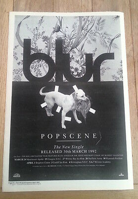 BLUR Popscene UK Poster size Press ADVERT 16x12 inches