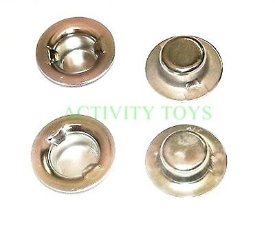 New Rolly Toys Pedal Tractor Wheel Nuts / Caps / Fastners / Clips - 10mm - 4pk