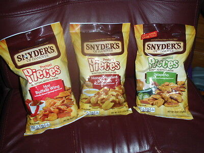 Snyder's of Hanover Pretzel Pieces Honey Mustard ,Jalapeno & Hot Buffalo 3 Bags