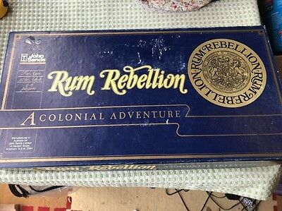 1983 Rum Rebellion Board Game by John Sands VGC Near Complete